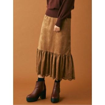 【C】スウェードライクラップマーメイドスカート