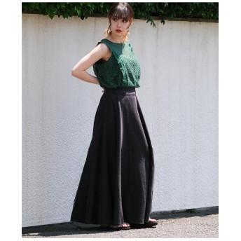 リネンロングドレープスカート