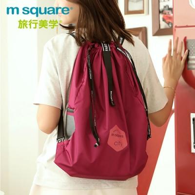 m square 折疊束口雙肩後背包