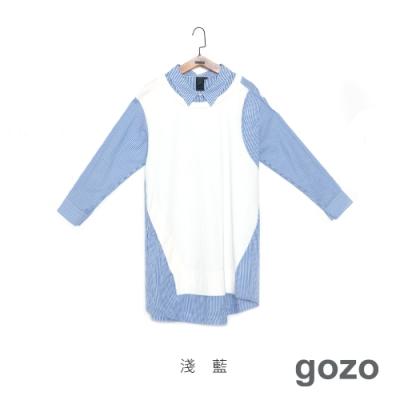 gozo 造型拼接襯衫洋裝(二色)