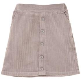 ・前ボタンコーデュロイ台形スカート