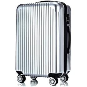 旅行スーツケース、ラゲッジバッグ、ユニバーサルホイールABSレバー、ボックス搭乗用ハードボックス、学生用バッグ、-Silver-S