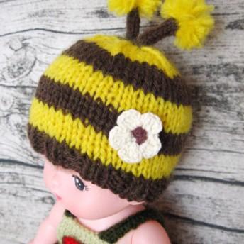 メルちゃんサイズ 帽子 ミツバチ