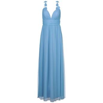 《セール開催中》SOANI レディース ロングワンピース&ドレス アジュールブルー 44 ポリエステル 100%