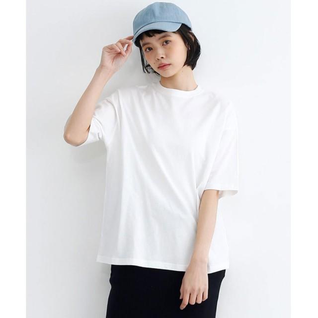 メルロー merlot バック刺繍ビッグシルエットTシャツ (オフホワイト)