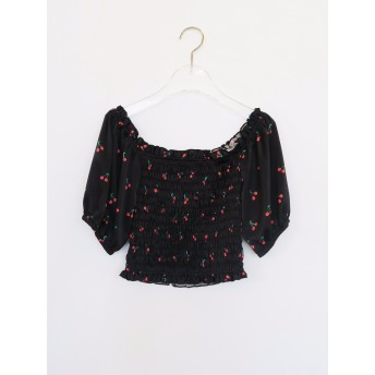 cherry 2way blouse