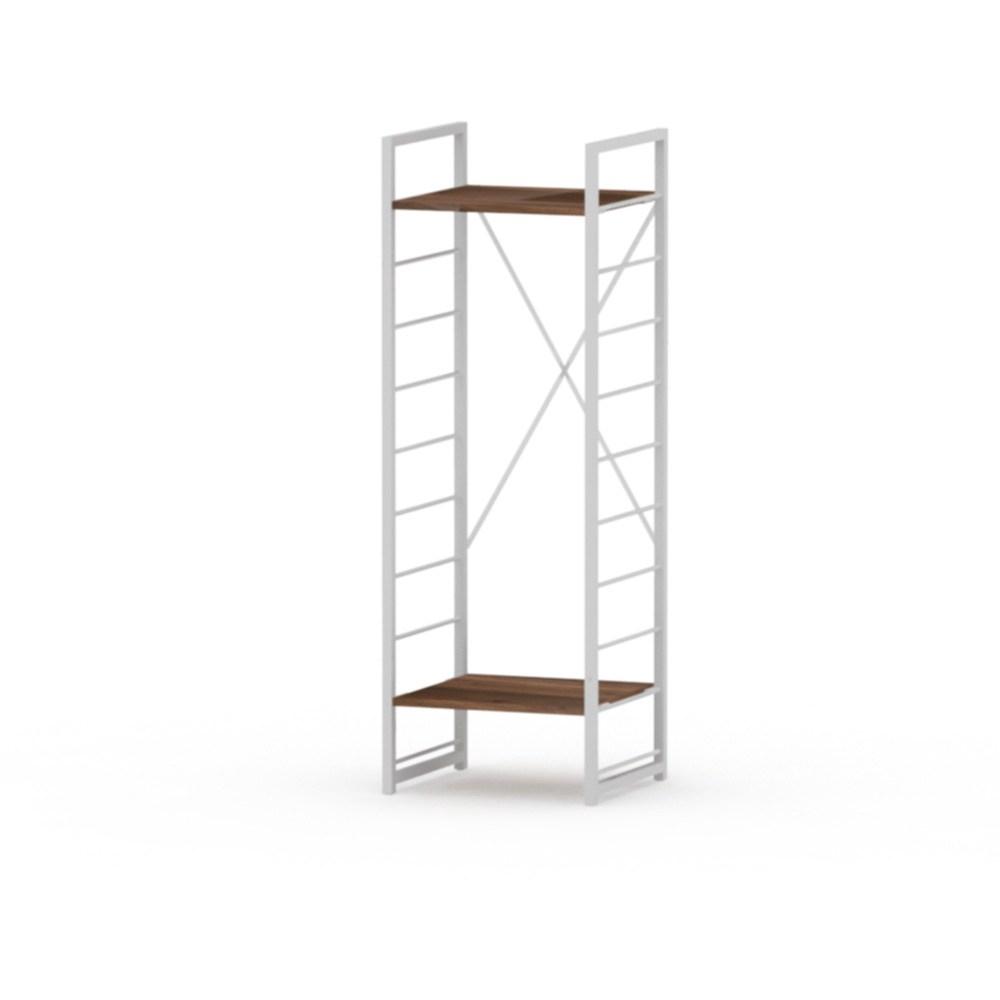 組 - 特力屋萊特 組合式層架 白框/深木紋色 40x40x128cm