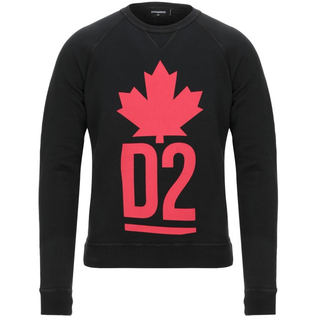 《セール開催中》DSQUARED2 メンズ スウェットシャツ ブラック 3XL コットン 100% / ポリウレタン