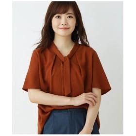 【大きいサイズあり・13号・15号】ジョーゼットボウタイシャツ