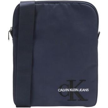 《セール開催中》CALVIN KLEIN JEANS メンズ 肩掛けバッグ ダークブルー ナイロン 90% / ポリウレタン 10% CKJ MONOGRAM NYLON