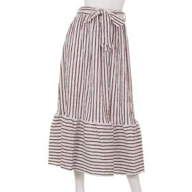 シャーリングストライプマキシスカート