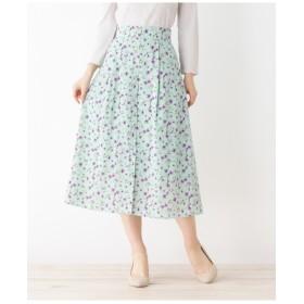 【洗える】レトロフラワースカート