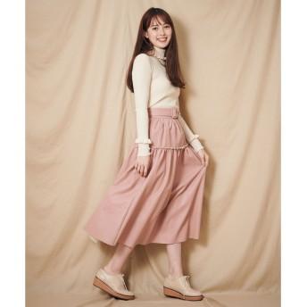 シュープリームララ Supreme. La. La. フェイクレザーパンチングスカート (ピンク)