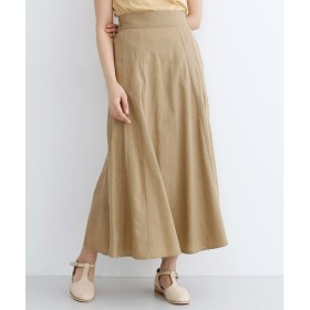 メルロー merlot コットンリネンマーメードスカート (ベージュ)