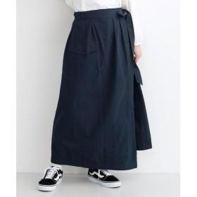 メルロー merlot ビッグポケットサロンスカート (ネイビー)