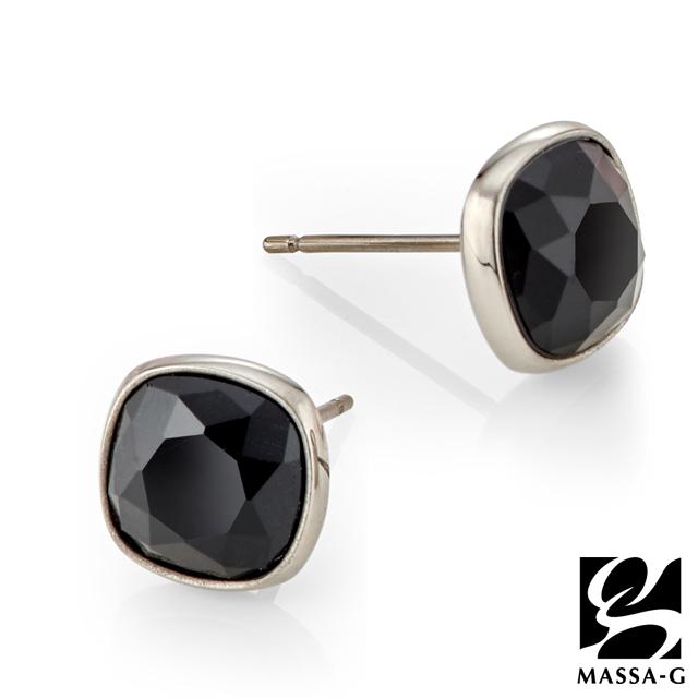 MASSA-G 黑主義 純鈦耳環 一對