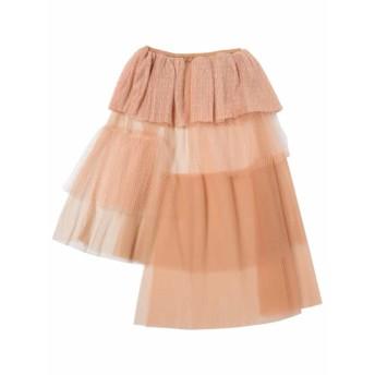 asymmetry tulle skirt