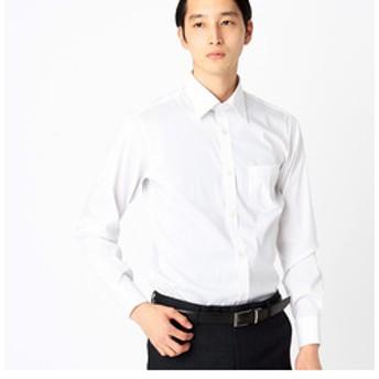 【COMME CA ISM:トップス】セミワイドカラー長袖ドレスシャツピンストライプ