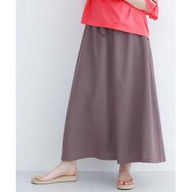 メルロー merlot ドローコードギャザースカート (ブラウン)