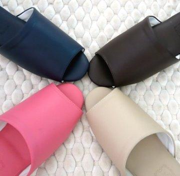 (e鞋院)日式可水洗氣墊(厚底)舒適室內皮拖鞋(M)-2雙