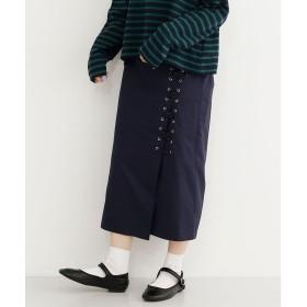 メルロー merlot ロープスピンドルラップスカート (ネイビー)
