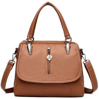 イエロー-2 レディースショルダーバッグの女性のファッションのハンドバッグの女性のバッグのためのソフトのPuレザークロスボディバッグを、