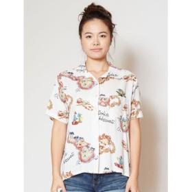 【Kahiko】ハワイアンプリントアロハシャツ ホワイト