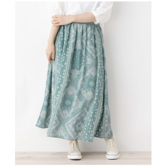 柄ギャザースカート