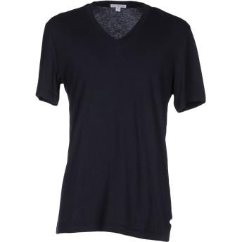 《セール開催中》JAMES PERSE メンズ T シャツ ダークブルー 1 コットン 100%