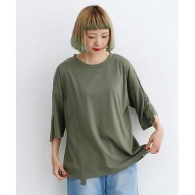 メルロー merlot Dカン付きラインテープTシャツ (カーキ)