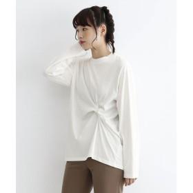 メルロー merlot コットンねじりTシャツ (ホワイト)