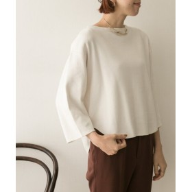 アーバンリサーチ YLEVE COTTON RIB PULLOVER レディース WHITE FREE 【URBAN RESEARCH】