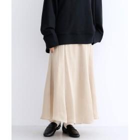 メルロー merlot マーメイドサテンスカート (ベージュ)