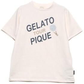 ジェラートピケ gelato pique コスモワンポイントTシャツ (オフホワイト)