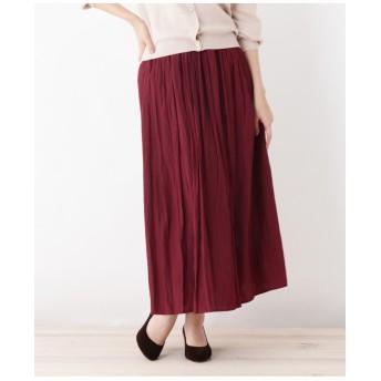 【WEB限定サイズあり】ロングギャザースカート