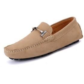 [IWOJDN] スエードモカシン スリッポン 紳士靴 ドライビングシューズ 大きいサイズ 防滑 スニーカー 大人 高級感 オシャレ カジュアル パンチングレザー 軽量 短靴 メンズ 快適 外出 春夏 ブラック