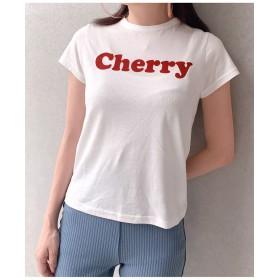 cherryプリントTシャツ