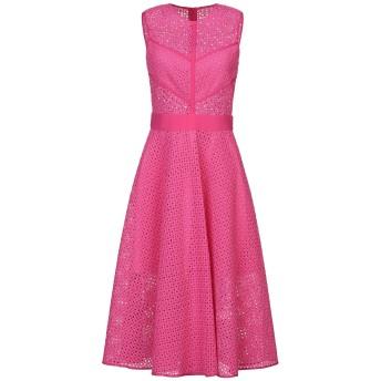 《セール開催中》PINKO レディース 7分丈ワンピース・ドレス フューシャ 42 ナイロン 56% / コットン 40% / ポリウレタン 4%