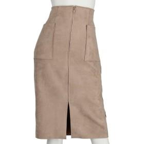 フェイクスエード両ポケタイトスカート