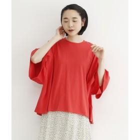 メルロー merlot ビッグシルエットTシャツ (レッド)