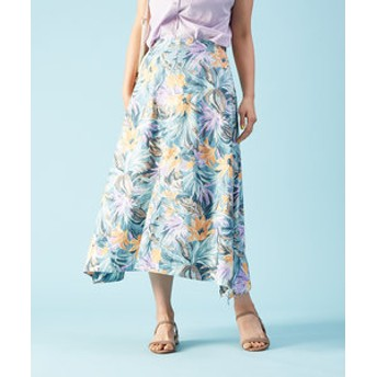 【Rouge vif la cle:スカート】フラワープリントスカート