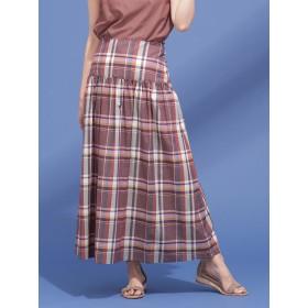 カラーマドラススカート