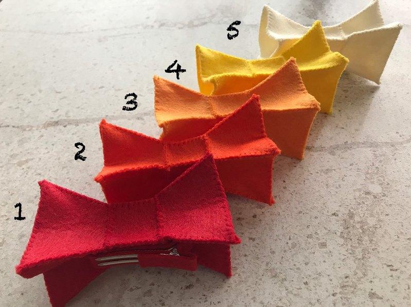 幾何疊疊蝴蝶結髮夾