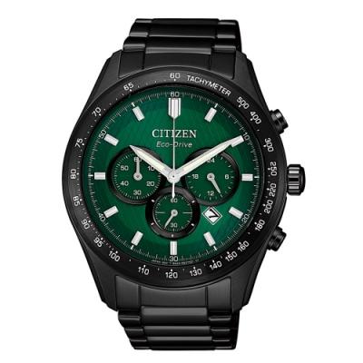 CITIZEN 準確時刻三眼計時光動能腕錶CA4455-86X