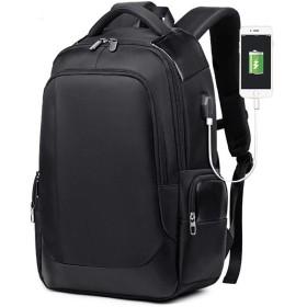 QTMIAO-Bags メンズショルダーバッグカジュアルなUSBのバックパック通気性の摩耗のビジネスコンピュータバッグトラベルバッグランドセル (Color : Black)