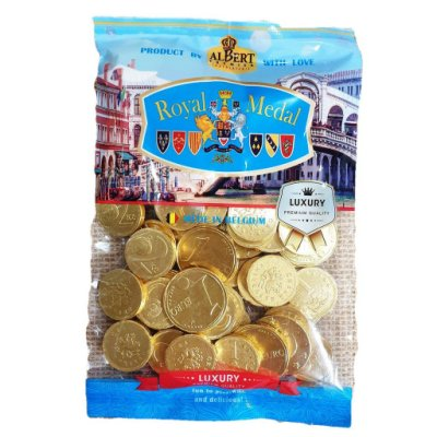 比利時金幣牛奶巧克力 300g(45個)【4713115889144】(比利時巧克力)