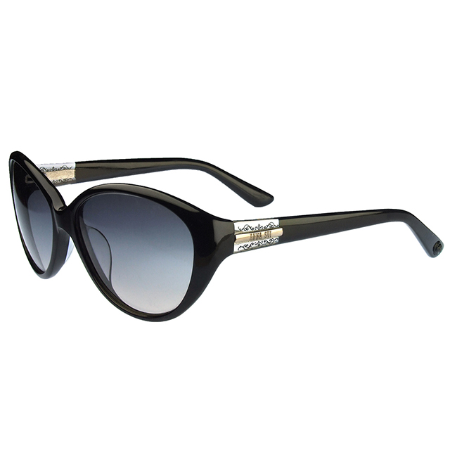 【ANNA SUI 安娜蘇】安娜古典細鏡角系列太陽眼鏡(AS858001-黑)
