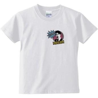 KATSUMATA MUSEUM(ピンクワンポイント) キッズTシャツ(カラー : ホワイト, サイズ : 120)