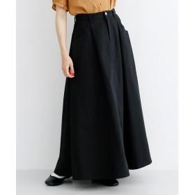 メルロー merlot カツラギマキシフレアスカート (ブラック)