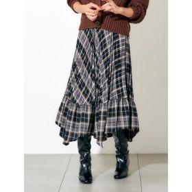 チェックプリーツスカート/Mer d' ete